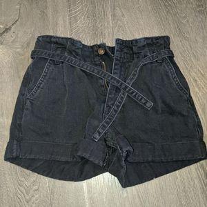 Black Hollister Jean Shorts